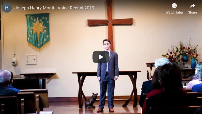 Solo Voice Recital: Joseph Henry Monti